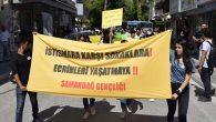 "Samandağ'da   ""İstismar""  protestosu"