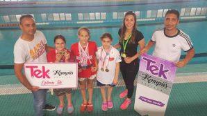 Hatay ortaokullar arası yüzmede 4 İl Şampiyonluğu
