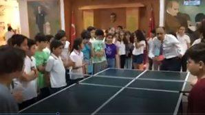 Güzel'den Gazozuna  Masa Tenisi Maçı