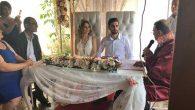 Genç Çiftin  Nikahını kıyan  BŞB Başkanı,  Şahit İlçe  B. Başkanı…