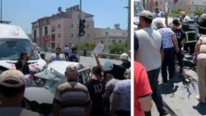 Sarımazı'da Korkunç Kaza
