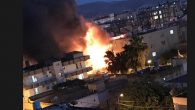 Reyhanlı'da bodrum katta  yağlı boya deposunda yangın çıktı