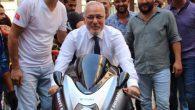 Başkanın motosiklet tutkusu
