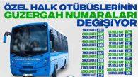 Özel Halk Otobüslerinde Numara Değişikliği