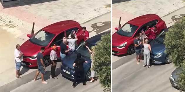 Trafikte Kadın Kavgası