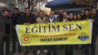 Hataylı eğitim emekçileri, Ankara mitinginde…