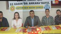 Eğitim Sen'liler 23 Kasım'da Ankara yolunda
