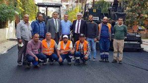 Armutlu'da yollar asfaltlanıyor