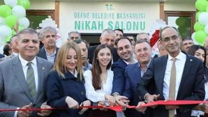 Defne Belediyesi yeni nikah salonu yaptı