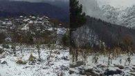 Hatay'da yılın ilk kar yağışı
