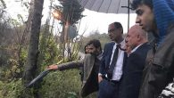 Sağanak yağışlar sonrası Harbiye çevresinde: