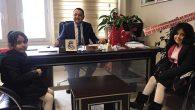 Başkan Kutlu'nun 2 sürpriz tebrikçisi: Kızları…