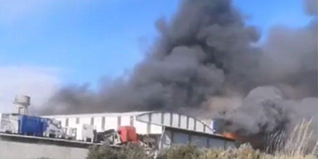Antakya'da  fabrika yangını