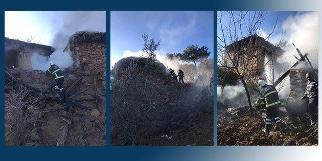 Hassa'da kırsalda  ev yangını