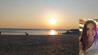 Büşra Boran Samandağ sahilini kirli buldu