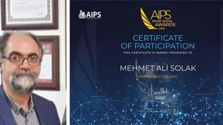 M.Ali Solak, AIPS'da finale kalan 10 kişiden biri…