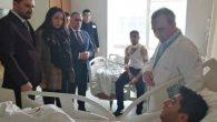 Kadın Vekil, Gazileri hastanede ziyaret etti
