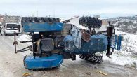 Traktör devrildi  sürücüsü öldü