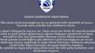 Adana Demirspor taraftarları,  maç öncesi söz ve mesajlarını tutmadı…