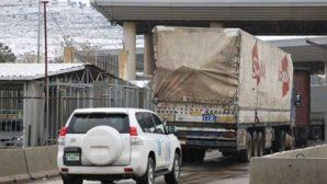 BM'nin 54 Yardım TIR'ı Hatay'dan  Suriye'ye geçti