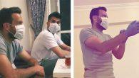 Futbolcular maskeli dolaşıyor