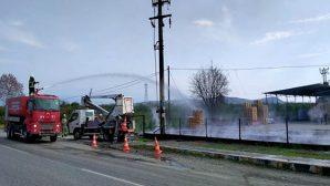 Erzin'de Fabrika Yandı