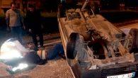 Otomobil Devrildi, Sürücü Yaralandı