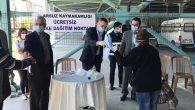 Arsuz'da Ücretsiz Maske Dağıtımı