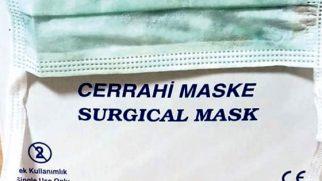 Hastaneye 1000 maske desteği