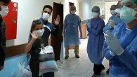 Korona'yı Yenen Üç Hasta  Alkışlarla Taburcu Oldu