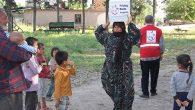 Belçika'dan Kırıkhan'daki Suriyelilere Yardım