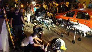 Defne'de motosiklet kazası