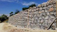 Balıklıdere'de Taş Duvar Çalışması