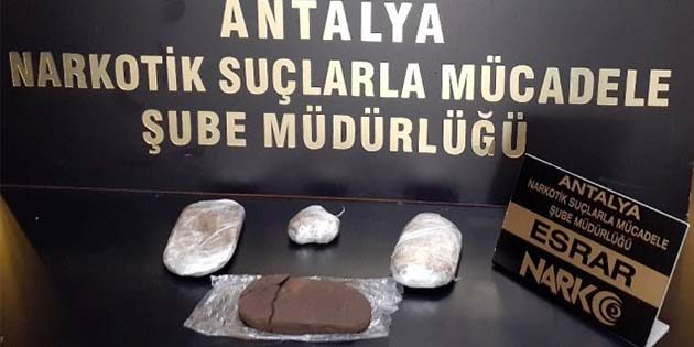 Uyuşturucu trafiği Hatay-Antalya arasında