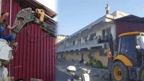Samandağ-Deniz Sitesi'ndeki yıkıma tepki var