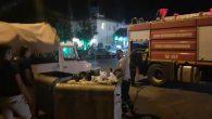 Çevlik'te Çöp Konteyneri Yandı