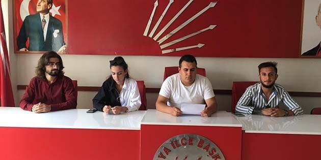 CHP'li Gençlerden  Çocuk İstismarına Tepki