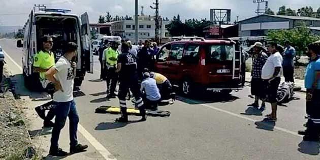 Arsuz'da kaza 1 Ölü…