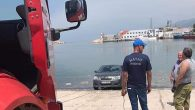 Otomobil Limana Düştü