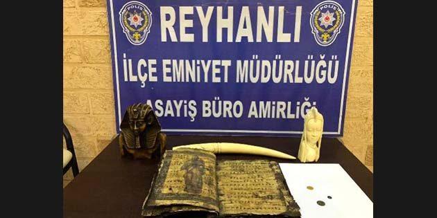 Reyhanlı'da Kaçak Tarihi Eser