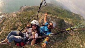 Samandağ'da yamaç paraşütü