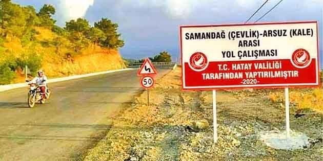 Arsuz-Çevlik yolu uyarısı: