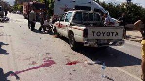 Samandağ'da Motosiklet Kazası
