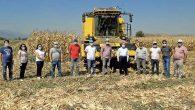 Çolakoğlu, Kırıkhan'da mısır hasadına katıldı