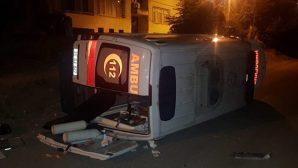 Ambulans Devrildi Yaralı, Yaralandı…