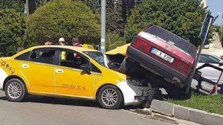 Şehir Merkezinde İlginç Kaza