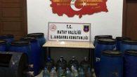 Antakya'da kaçak içki operasyonları