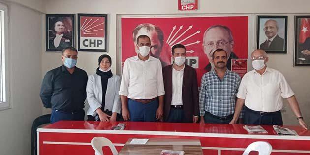 Kırıkhan  CHP İlçe Başkanına  tebrik ziyaretleri