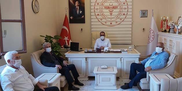 AKP İl Başkanı ziyareti sağlık müdürüne