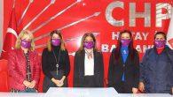 """CHP'li Kadınlardan """"Kadına Şiddete Hayır"""" Mesajı:"""
